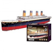 3d Puzzle Titanic Deluxe Collector's Edition Titanic ship history B568-11 Cubicfun happy magic puzzle 116 Pieces