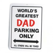 San Diego Gifts World's Greatest Dad Plastic Parking Signs【ゴルフ その他のアクセサリー>ホーム/オフィス】