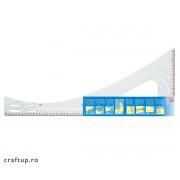 Riglă croitorie profesională - Prym