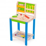 Wonderworld Work Bench with Tools Wood Green HOUT192438