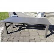 Außenmöbelserie VIKING Tisch LxBxH 2200 x 900 x 770 mm grau