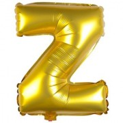 Stylewell 16 Inch Alphabet (Z) Soild (Golden) Color 3D Foil Balloons For Birthday And Anniversary Parties Decoration