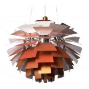 Poul Henningsen hanglamp Artisjok lamp 72cm koperrood