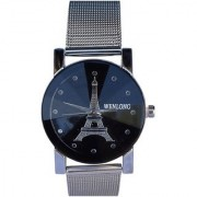 Wenlong Crystle stylish Black Tower Wrist Best Designing Stylist Analog Watch For Women Girls