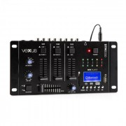Vexus STM3030 4 канален смесител BLUETOOTH USB SD MP3 LED (Sky-172.990)