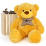 stuffed toy 4 feet soft and cute teddy bear - Yellow