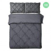 Super King 3-piece Quilt Cover Set Charcoal