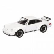 Porsche Speelgoed Porsche 911 Turbo wit autootje 12 cm