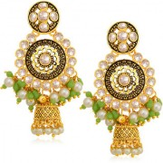 Sukkhi Charming Gold Plated Pearl Jhumki Earring For Women