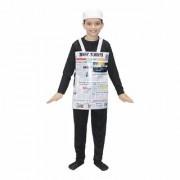 Kaku Fancy Dresses News Paper Fancy Dress/Object Costume -Multicolor 3-8 Years for Unisex