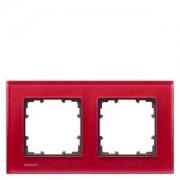 Siemens DELTA miro 2-es piros üvegkeret függőleges és vízszintes elhelyezéssel (Siemens 5TG12023 / 5TG1202-3)
