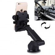 360 Degrees Rotation Car Air Vent Mount Silicone Sucker Holder Stand with Flexible Stretching Clip for 3.5-6 inch Smart Phones Clip Width: 5.5-9 cm Sucker Diameter: 6.3 cm Holder Height: 12 cm