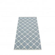 pappelina Rex Outdoor-Teppich - sturmblau / vanille 70 x 160cm