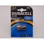 Duracell DL123A, CR17345, CR123A baterie litiu 3V blister 1