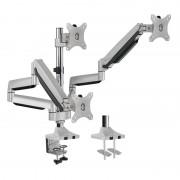 Logilink BP0052 Triple alumium monitor desk mount, tilt -90/+90, swivel -90/+90, level adjustment -90/+90