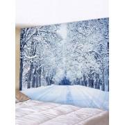 Rosegal Tapisserie Murale Pendante Art Décoration Forêt Neige et Chemin Imprimés Largeur 79 x Longueur 71 pouces