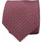 Krawatte Seide Rot Muster K82-9 - Rot