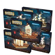 Robotime 3D Puzzle Woodcraft DIY Model Ship Santa Maria Wooden Craft kit for Boys and Girls
