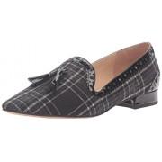 Franco Sarto Women's Stella Pointed Toe Flat, Black, 8 M US