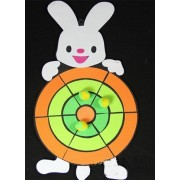 Generic Soft Lawn Foam Target Toss Darts Board Suction Sticky Ball Toy