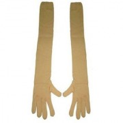 Tahiro Beige Cotton Full Arm Gloves - Pack Of 1