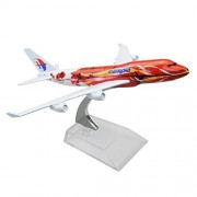 Malaysia System Berhad Hibiscus Boeing 747 16cm Metal Airplane Models Child Birthday Gift Plane Models Home Decoration