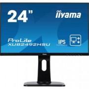 Iiyama LED monitor Iiyama ProLite XUB2492HSU, 60.5 cm (23.8 palec),1920 x 1080 px 4 ms, IPS LED HDMI™, DisplayPort, VGA, USB 2.0, na sluchátka (jack 3,5 mm)