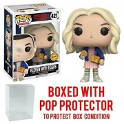Funko Pop! TV: Stranger Things Eleven In Wig with Eggos Chase Variant Vinyl Figure (Bundled with Pop BOX PROTECTOR CASE)