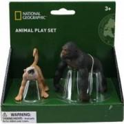 Set 2 figurine National Geographic Gorila si Maimuta