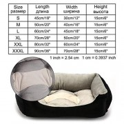 Sheep Shop Juego de cama para perros pequeños, medianos y grandes, para perros pequeños, medianos y grandes, tumbonas de verano, casas para gatos y mascotas, color negro