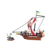 Sluban piratenschip voor jongens bouwstenen set