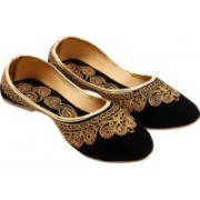 Royal Collection Mojaris For Women(Gold, Black)