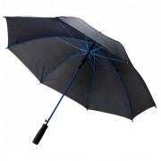 Umbrela 23 inch cu deschidere automata, 8 paneluri, Everestus, pongee 190T, fibra de sticla, albastru, saculet inclus