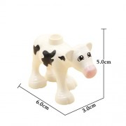 Generic Large Particles Building Blocks Accessories Farm Animals Zoo Compatible Duplos cat Pig Dog Rabbit Monkey Hippo Sheep Toys Gift White Cow Baby