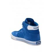 Supra Vaider Suede Leather Hi-Top Sneaker OCEAN-WHITE