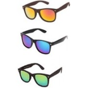 EDDYFASHIONHUB Wayfarer Sunglasses(Red, Yellow, Blue)