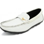 Style Shoe Styles Comfortable Loafers For Men(White)
