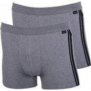 Schiesser Shorts Grey Stripe (2Pack) - Schwarz XL
