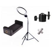 Lampa pierścieniowa do makijażu RING NG-65C 65W + Statyw 805 + Uchwyt do telefonu + Minigłowica