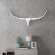 vidaXL Декоративна алуминиева глава на бик за стена, сребриста, 96 см