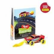 Toiing Racertoi Return Gift Combo - Pack of 12 DIY Balloon Powered Race Car for Kids STEM Science Learning Project