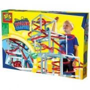 Детски комплект Направи си сам - Картонена Писта за екстремно спускане с топче, SES, 080893