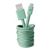 Fresh 'n Rebel USB/Micro USB Fabriq cable 3.0m Misty Mint