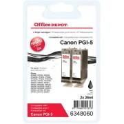 Office Depot Compatible Canon PGI-5BK Ink Cartridge Black 2 Pieces