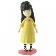 Figurina Gorjuss cu rochita galbena Gorjuss
