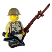 Lego Custom WW2 Japanese Soldier Minifigure with BrickArms Weapons