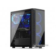 Carcasa PC ATX SilentiumPC Signum SG1X TG RGB, fara sursa, negru