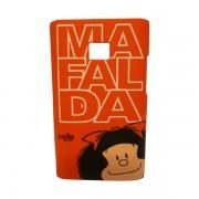 Funda Protector Mobo LG L3 Mafalda Rojo