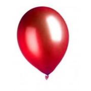 Vegaoo 100 metallröda ballonger 29 cm - Kalasdekor One-size