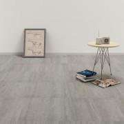 vidaXL Самозалепващи подови дъски от PVC, 5,11 м², напръскано сиво